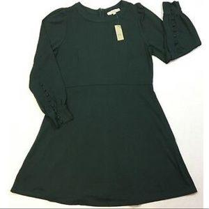 Deep Green Long Sleeved Loft Dress